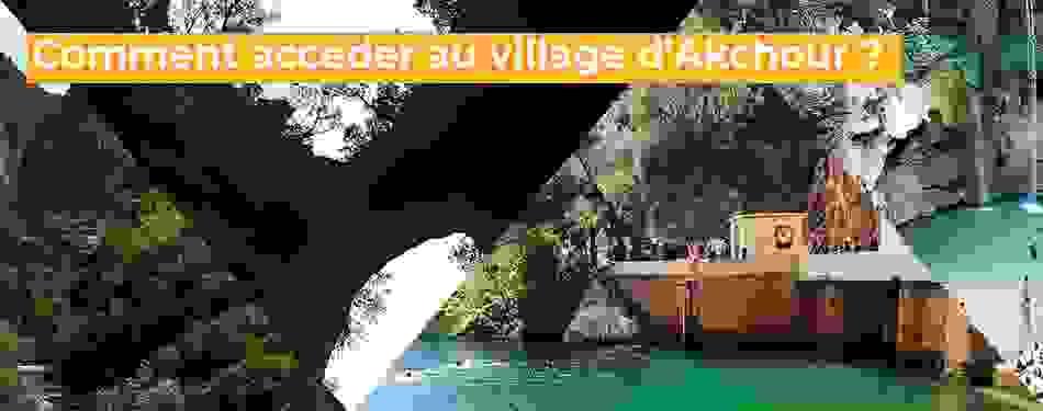 acceder, village, akchour, maroc