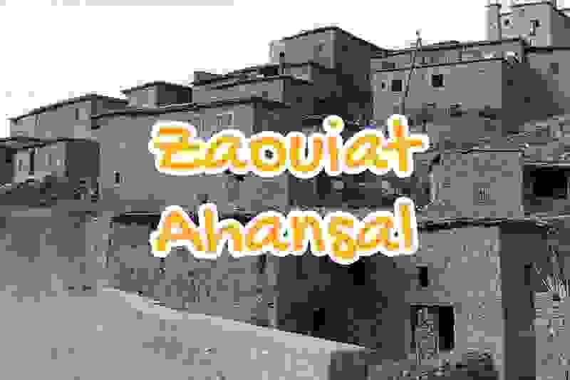 village, zaouiat, ahansal, beni, mellal, maroc