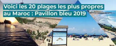 plages, propres, maroc, pavillon, bleu, 2019