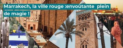 marrakech, ville, rouge, maroc
