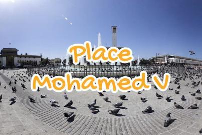 mohammed, v, square, casablanca