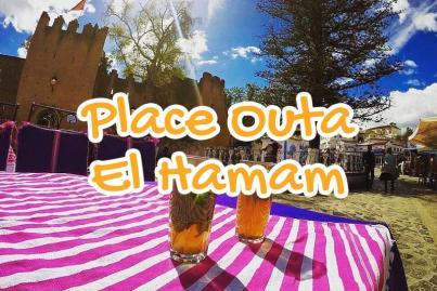 place, outa, el, hammam, chechaouen, maroc