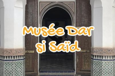 musee, dar, si, said, marrakech, maroc