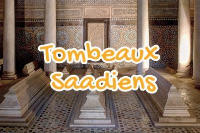 tombeaux, saadiens, marrakech, maroc