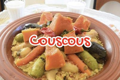 Moroccan lamb couscous with vegetables