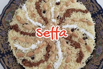 Sweet Seffa with Raisins and Almonds